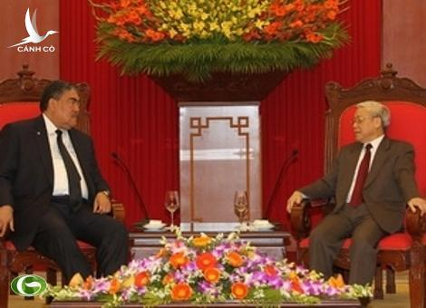 Party General Secretary Nguyen Phu Trong receives MIU Secretary General Miguel Mejia