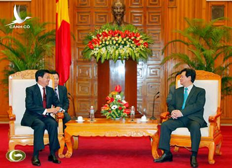 Prime Minister Nguyen Tan Dung receives Deputy Prime Minister Thongloun Sisoulith
