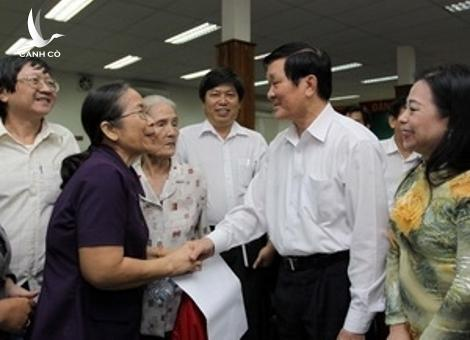 President Truong Tan Sang meets with voters in District 1, Ho Chi Minh City