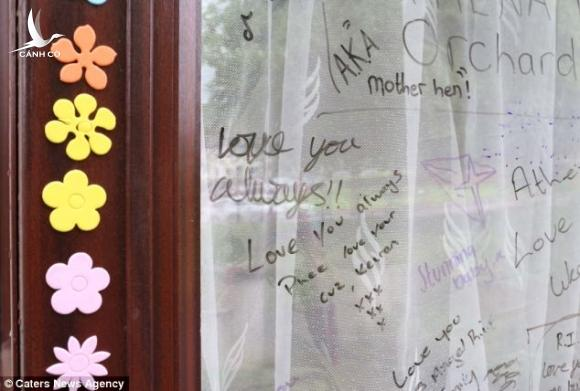Athenas grieving friends have written tributes to her on the windows of her family home in Leicester