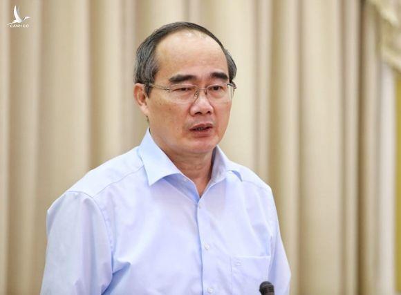 Ủy viên Bộ Chính trị, Bí thư Thành ủy TP.HCM Nguyễn Thiện Nhân phát biểu tại hội nghị /// Ảnh: Ngọc Dương