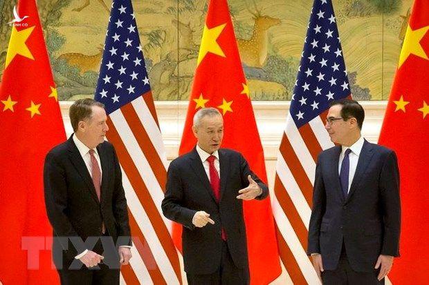 Đại diện Thương mại Mỹ Robert Lighthizer, Phó Thủ tướng Trung Quốc Lưu Hạc và Bộ trưởng Tài chính Mỹ Steven Mnuchin tại cuộc gặp ở Bắc Kinh ngày 14/2 vừa qua.