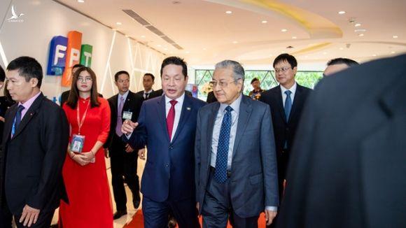 Thủ tướng Mahathir Mohamad thăm Đại học FPT sáng 28.8 /// Ảnh FPT