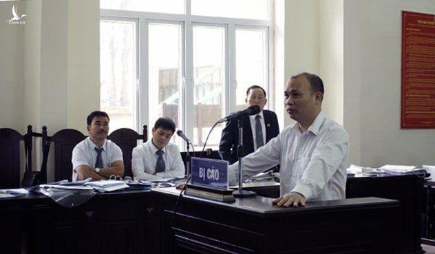 Bị cáo Bùi Mạnh Giáp trong phiên tòa sơ thẩm (lần 2).