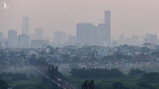 Môi trường là một trong những yếu tố đo đếm sự phát triển - Ô nhiễm không khí tại Hà Nội. Ảnh: BBC