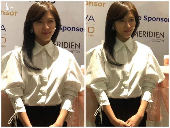 Ha Ji Won cho biết sẽ không bao giờ phát ngôn ảnh hưởng đến cộng đồng /// ẢNH: ANH THƯ