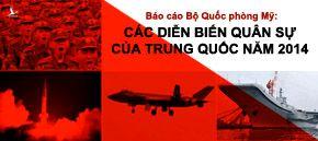 Báo cáo Bộ Quốc phòng Mỹ: Các diễn biến quân sự của Trung Quốc năm 2014