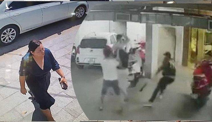 Bà Linh rời khỏi chiếc ô tô vào quán nhậu trước thời điểm xảy ra vụ việc.