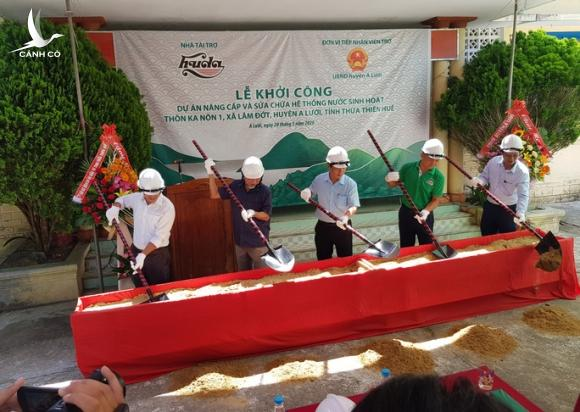 Khởi công dự án nước sạch cho người dân vùng bị chất độc da cam - Ảnh 1.
