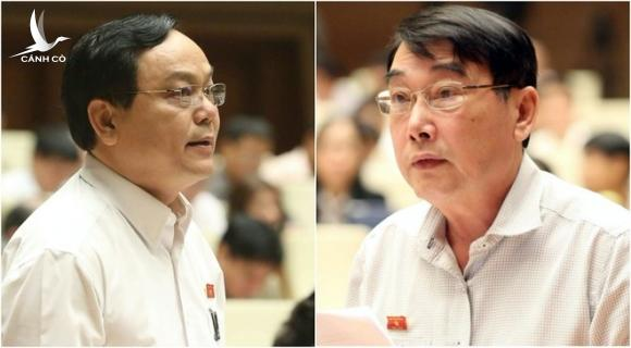 Đại biểu Hoàng Đức Thắng tiếp tục tranh luận với đại biểu Phạm Hồng Phong /// Ảnh Gia Hân