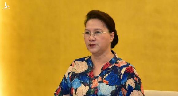 Chủ tịch Quốc hội Nguyễn Thị Kim Ngân phát biểu tại phiên họp /// Ảnh Gia Hân