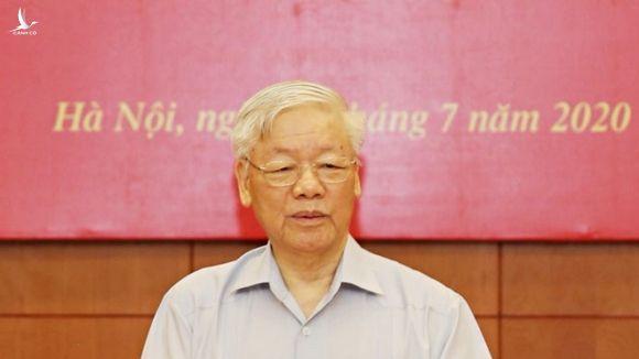 Tổng bí thư, Chủ tịch nước Nguyễn Phú Trọng phát biểu kết luận phiên họp /// Ảnh TTXVN