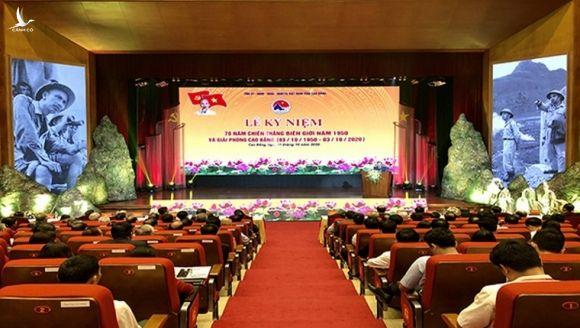Lễ kỷ niệm 70 năm Chiến thắng Biên giới 1950 và Giải phóng Cao Bằng (03/10/1950 – 03/10/2020). Ảnh: Baophapluat.vn
