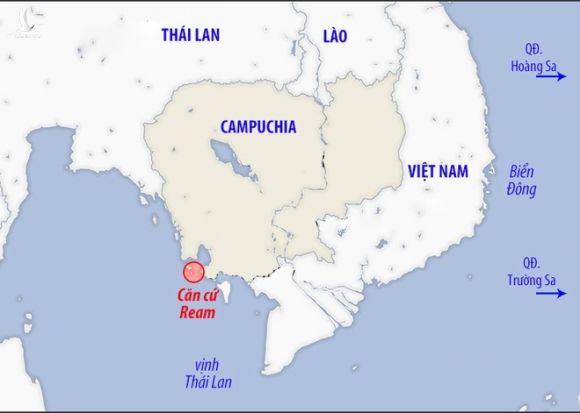 Vị trí căn cứ hải quân Ream /// Đồ họa: TL