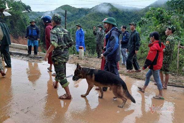 Hiện trường tìm kiếm cứu nạn 22 cán bộ, chiến sỹ bị vùi lấp ở Quảng Trị - Ảnh 21.