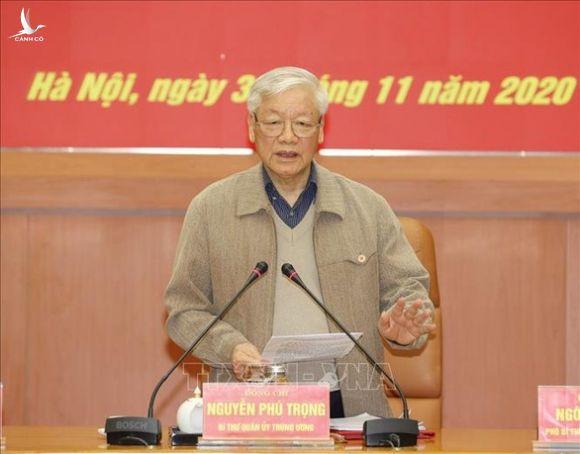 Tổng bí thư, Chủ tịch nước Nguyễn Phú Trọng chủ trì Hội nghị của Quân ủy trung ương - Ảnh 1.