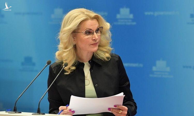 Phó thủ tướng Nga Tatiana Golikova phát biểu ở Moskva hôm 14/3. Ảnh: Reuters.