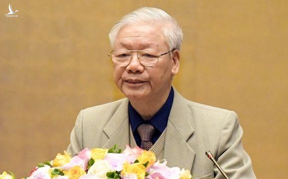 Tổng bí thư, Chủ tịch nước Nguyễn Phú Trọng. Ảnh: Trung tâm báo chí Quốc hội