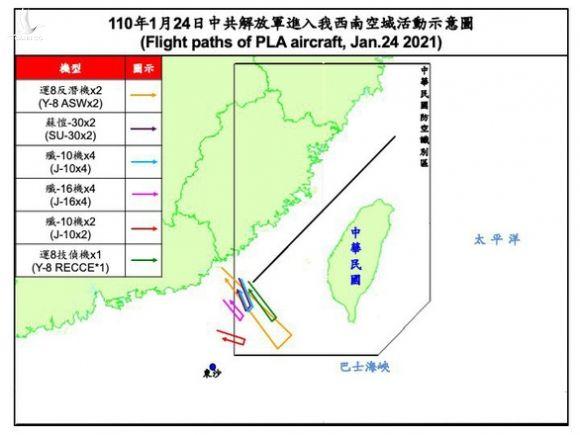 Đài Loan phản ứng: Chiến đấu cơ Trung Quốc tiếp tục bay vào ADIZ của Đài Loan - Ảnh 1.