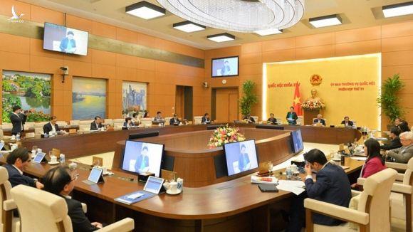 Phiên họp 51 của Ủy ban Thường vụ Quốc hội. Ảnh: Quốc hội