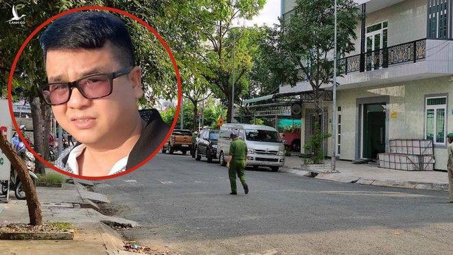 Lực lượng chức năng phong tỏa khu vực nhà ở của Trương Châu Hữu Danh /// ẢNH: KHÔI NGUYÊN