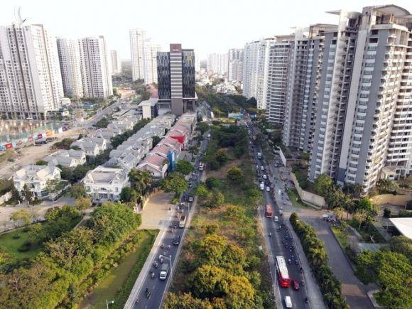Huyện Nhà Bè nhìn từ trên cao /// Ảnh: Ngọc Dương