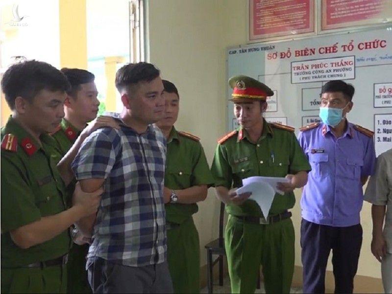 Lê Chí Thành khi bị bắt giữ.