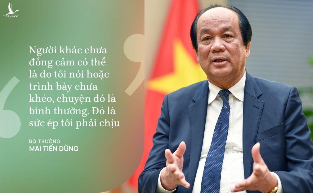 Bo truong Mai Tien Dung chia se suc ep trong nhiem ky anh 1