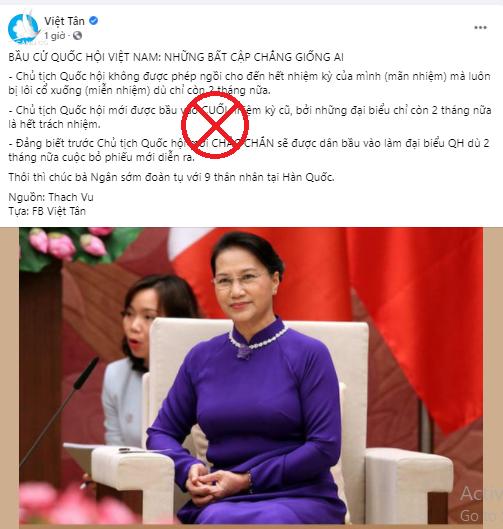 Luận điệu xuyên tạc của Việt Tân.