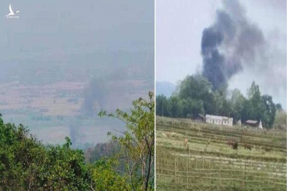 Trực thăng quân đội Myanmar bị bắn rơi