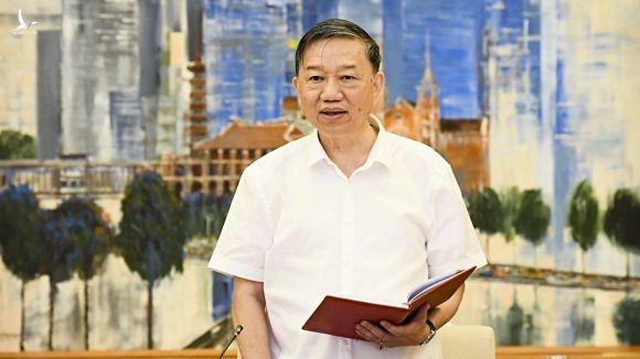 Bộ trưởng Công an Tô Lâm phát biểu tại hội nghị /// Ảnh Nguyên Mạnh
