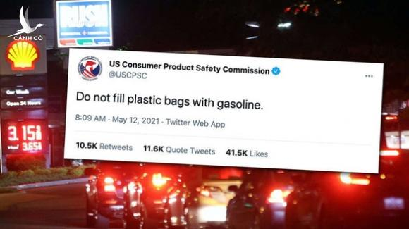 Dân Mỹ mang bao nilông đi mua xăng về trữ - Ảnh 2.