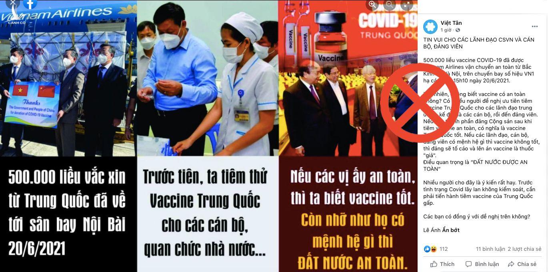 Luận điệu xuyên tạc về công tác nhập khẩu vaccine phòng COVID-19 tại Việt Nam.