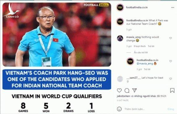 """CĐV Việt Nam """"phì cười"""" về thông tin HLV Park dẫn dắt ĐT Ấn Độ - Ảnh 1."""