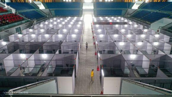 Bệnh viện dã chiến hơn 600 giường, để điều trị bệnh nhân Covid-19, tại Bắc Giang, tháng 5/2021.