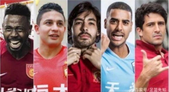 Nhiều cầu thủ Brazil được nhập tịch Trung Quốc /// Ảnh chụp màn hình