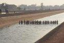 20 người nắm tay dàn hàng ngang kênh lạnh buốt rà từng mét nước tìm bé trai 9 tuổi