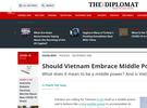 Diplomat: Việt Nam đã là cường quốc bậc trung hay chưa?