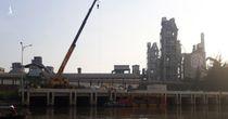 Vỡ đường ống Xi măng Chinfon Hải Phòng, dầu tràn ra sông