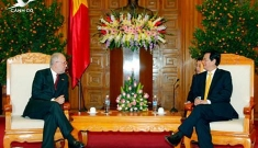 President Truong Tan Sang and PM Nguyen Tan Dung receive foreign guests