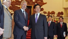 Prime Minister Nguyen Tan Dung receives Belgian Crown Prince Philippe