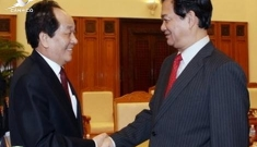 Prime Minister Nguyen Tan Dung receives the RoK Minister for Food, Agriculture, Forestry and Fisheries