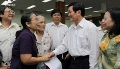 President Truong Tan Sang meets voters in HCM City
