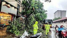 Công an Hà Nội căng mình khắc phục hậu quả mưa bão