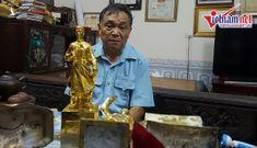 Nhét sắt, nhồi xi măng vào tượng Phật dát vàng bán theo cân