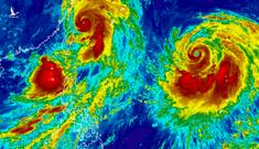 Song bão Thái Bình Dương 'nuốt chửng' áp thấp nhiệt đới trên Biển Đông: Nguy cơ sáp nhập thành siêu bão cực mạnh?
