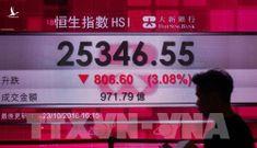 """Căng thẳng thương mại Mỹ- Trung """"nhấn chìm"""" chứng khoán châu Á"""