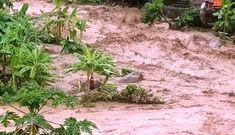 Trưởng Công an xã ở Thanh Hóa bị đất đá vùi lấp khi giúp dân chống lũ