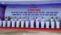 Thủ tướng bấm nút khởi công tuyến đầu tiên của cao tốc Bắc – Nam