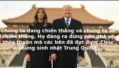 Không một ai dám dằn mặt Trung Quốc trong ngày Quốc khánh như TT Trump